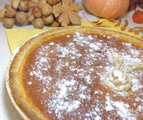 Пирог из слоеного теста с тыквой