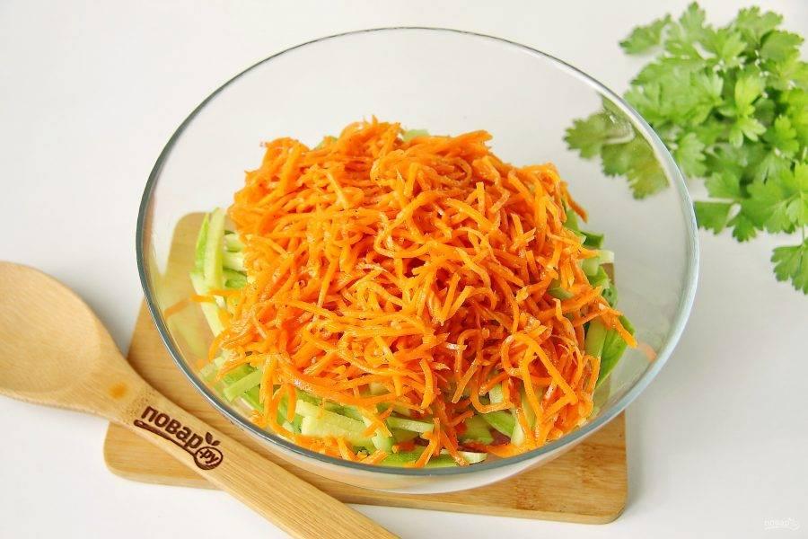 Добавьте корейскую морковь.