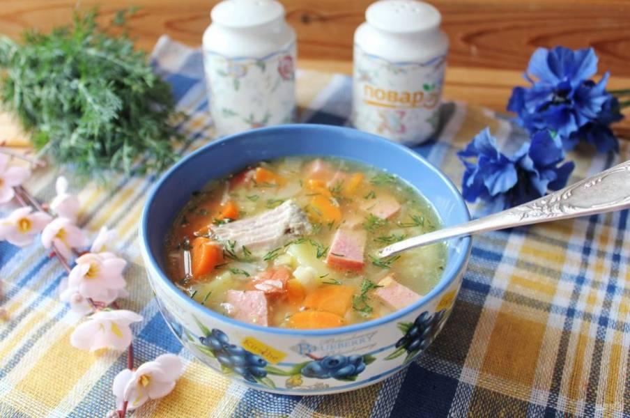 Голландский гороховый суп готов. Можно подавать к столу.