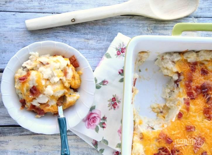 6. Готовьте запеканку в духовке в течение 25 минут при 180 градусах. Приятного аппетита!