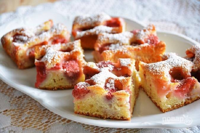 Сметанный пирог простой в духовке