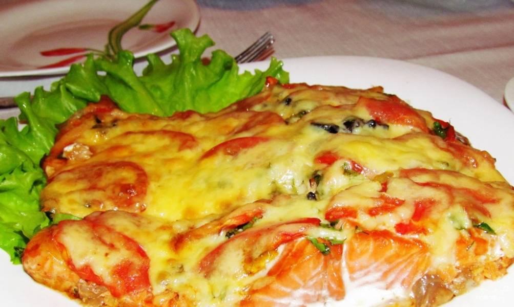 Семга с сыром в духовке