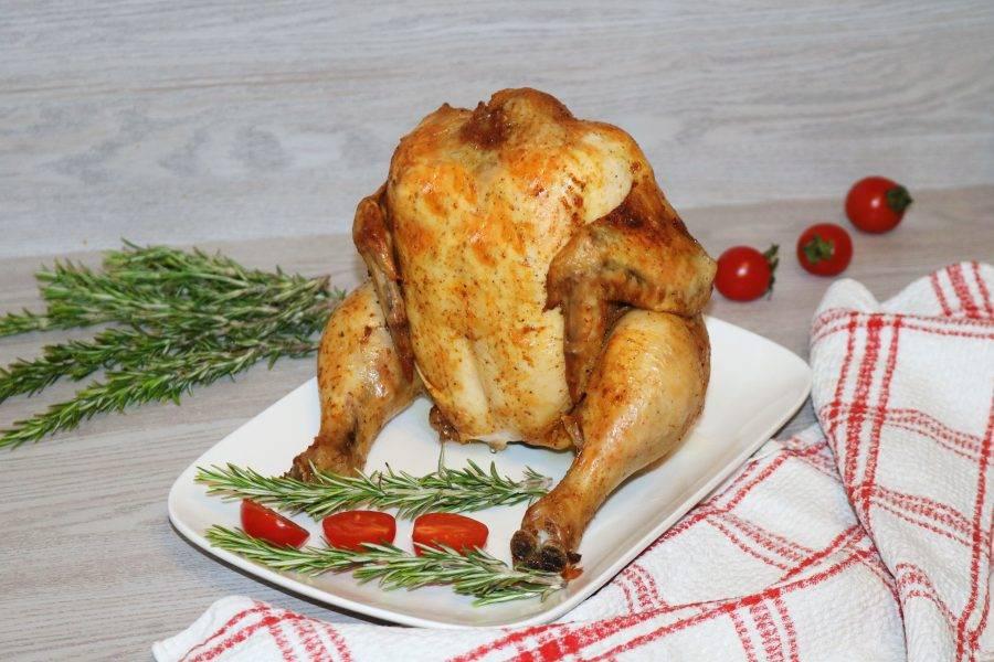 Курица готова. Сочная грудка, невероятный аромат!