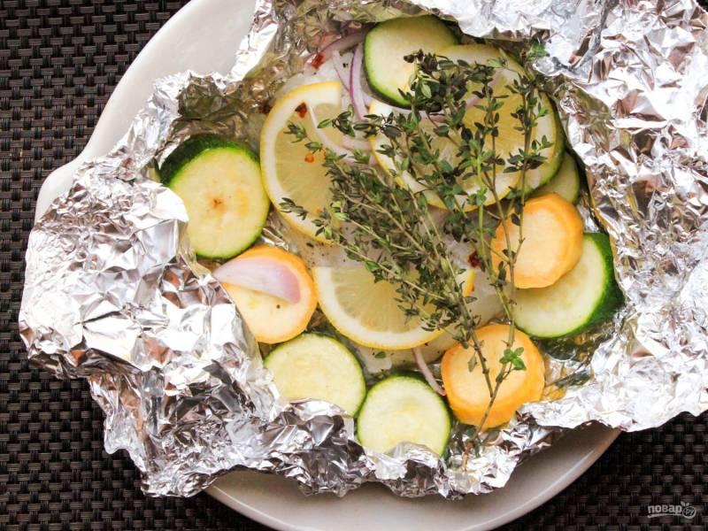 Рыба, запеченная в фольге в духовке
