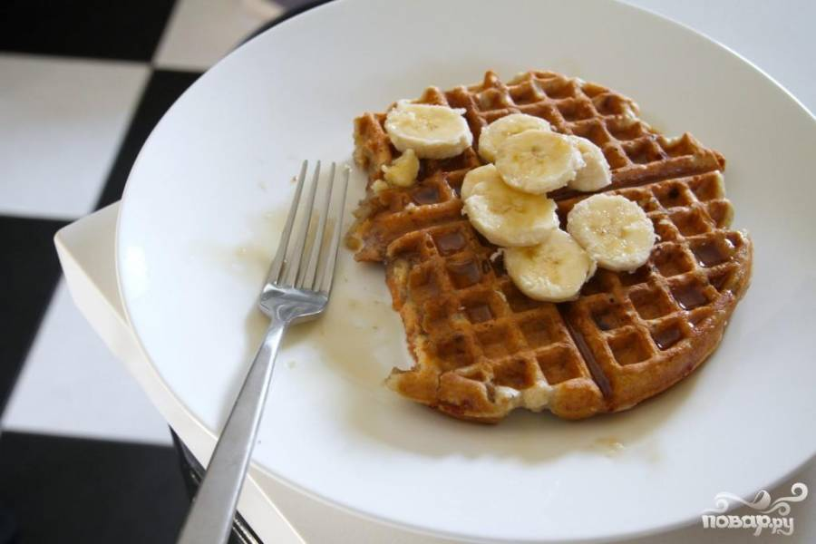Бананово-ореховые вафли