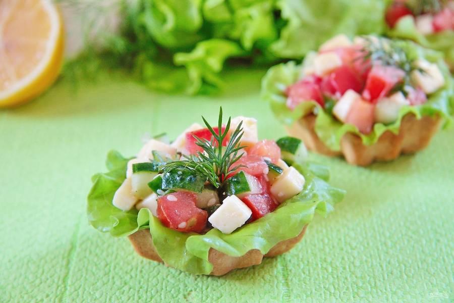 Овощные тарталетки