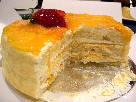 Торт с манго
