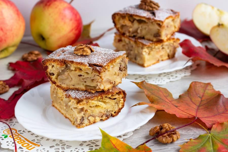 "Пирог с яблоками ""Осенний"""