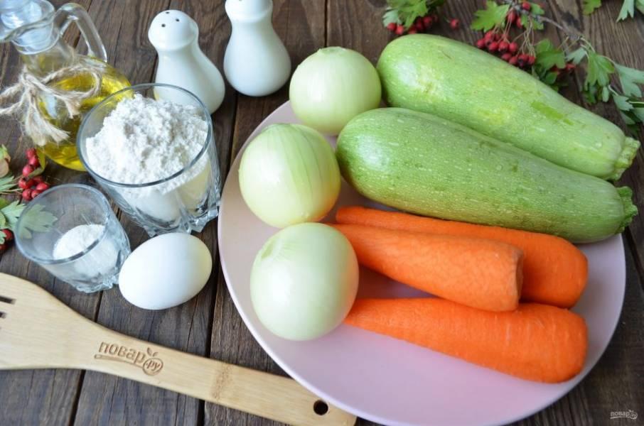 Подготовьте продукты. Овощи очистите и промойте под проточной водой. Приступим!