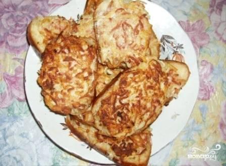 Бутерброды с колбасой и картошкой