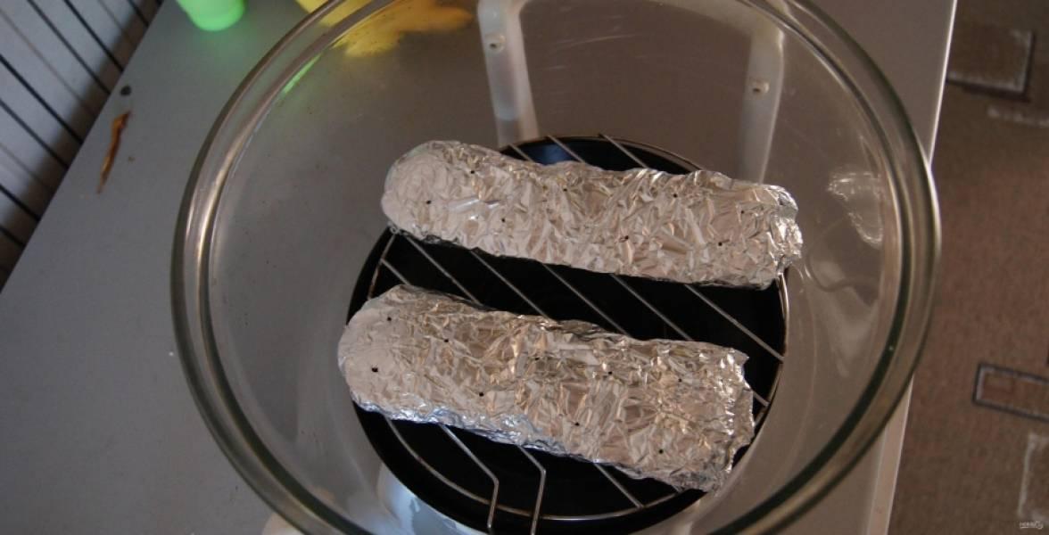 6.Перекладываю мясо на решетку аэрогриля.