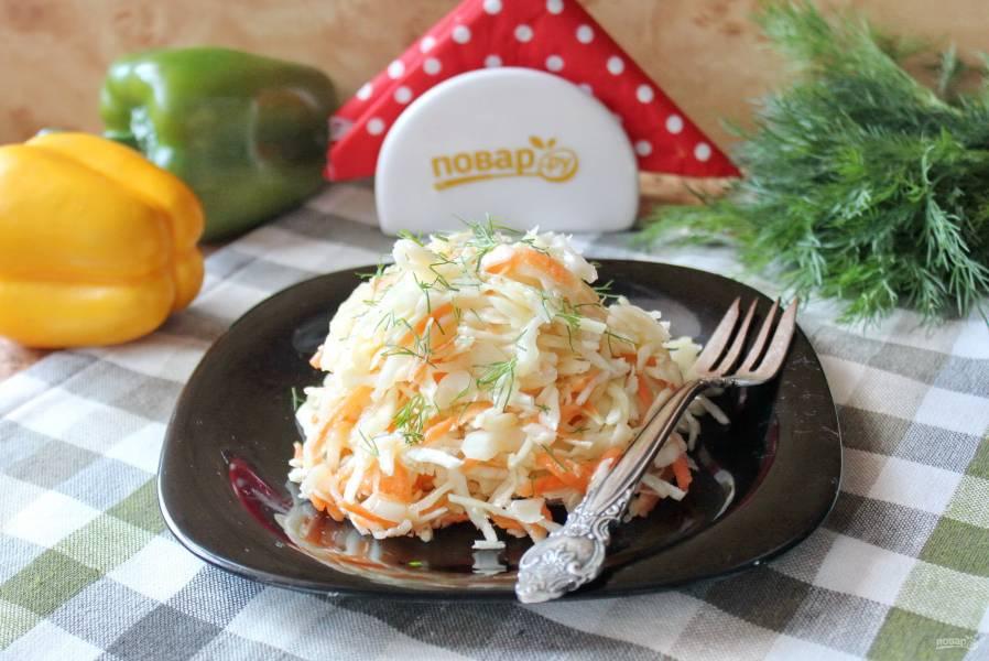 Маринованная капуста с горчицей