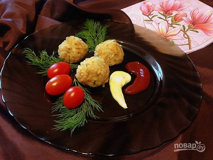 Куриные шарики в рисовой панировке