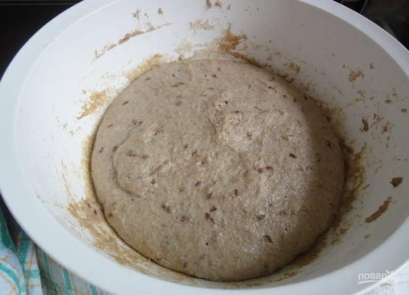 Вновь оставьте тесто в тёплом месте на 1-1,5 часа.