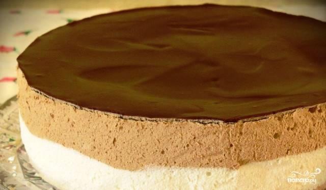 Шоколадное суфле для торта
