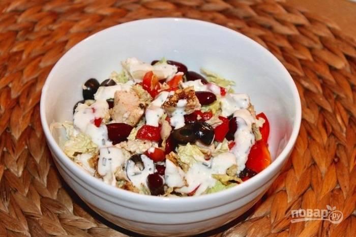 Салат с фасолью красной
