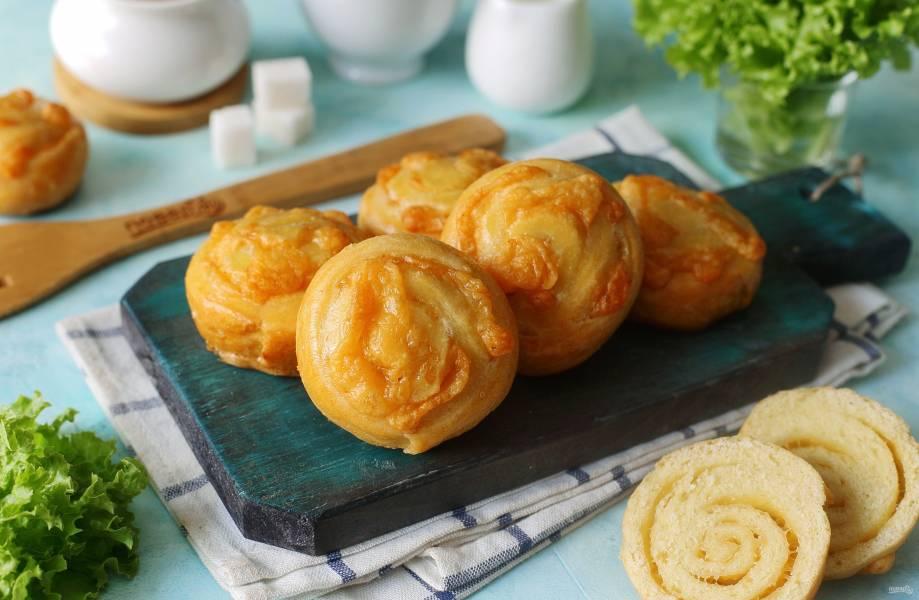 Сырные булочки с творогом