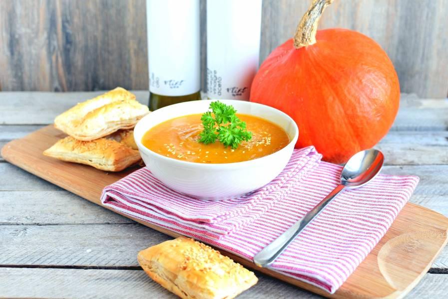 Тыквенный суп-пюре с манго