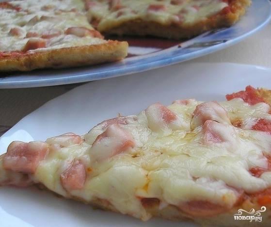 Быстрая пицца из батона
