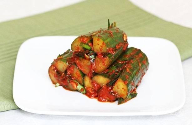 Кимчи с огурцом