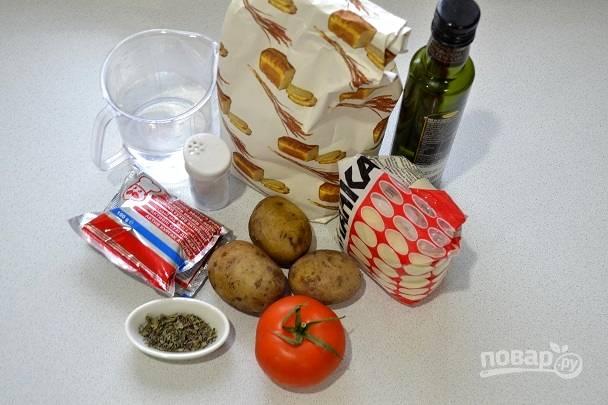 1. Картофель первым делом нужно вымыть и отварить до готовности в подсоленной воде.