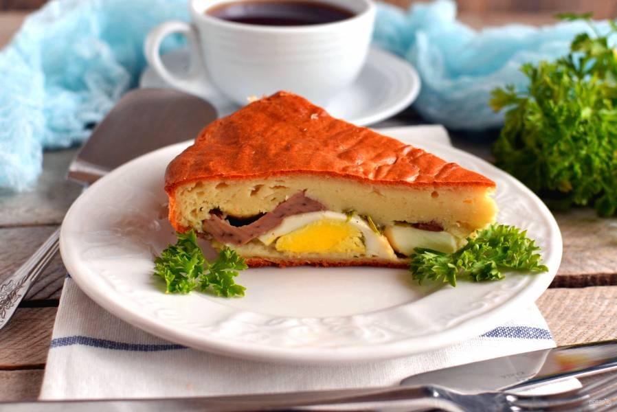 Пирог  с печенью трески
