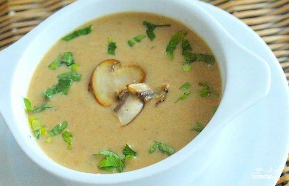 Крем-суп из шампиньонов с картошкой