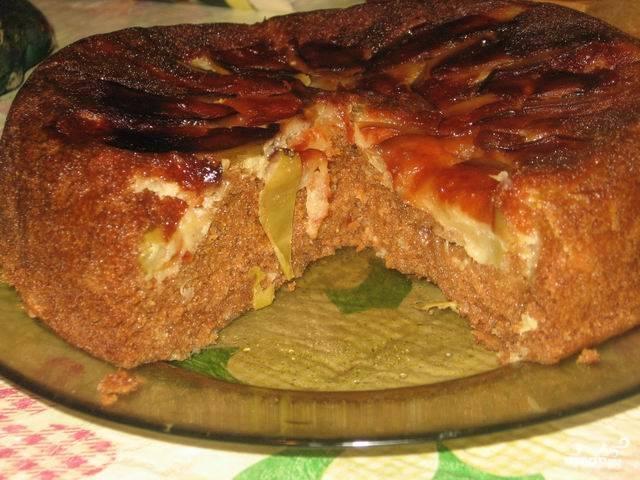 """Вот такой простой и вкусный пирог с яблоками в мультиварке """"Панасоник"""" получается. Приятного чаепития!"""