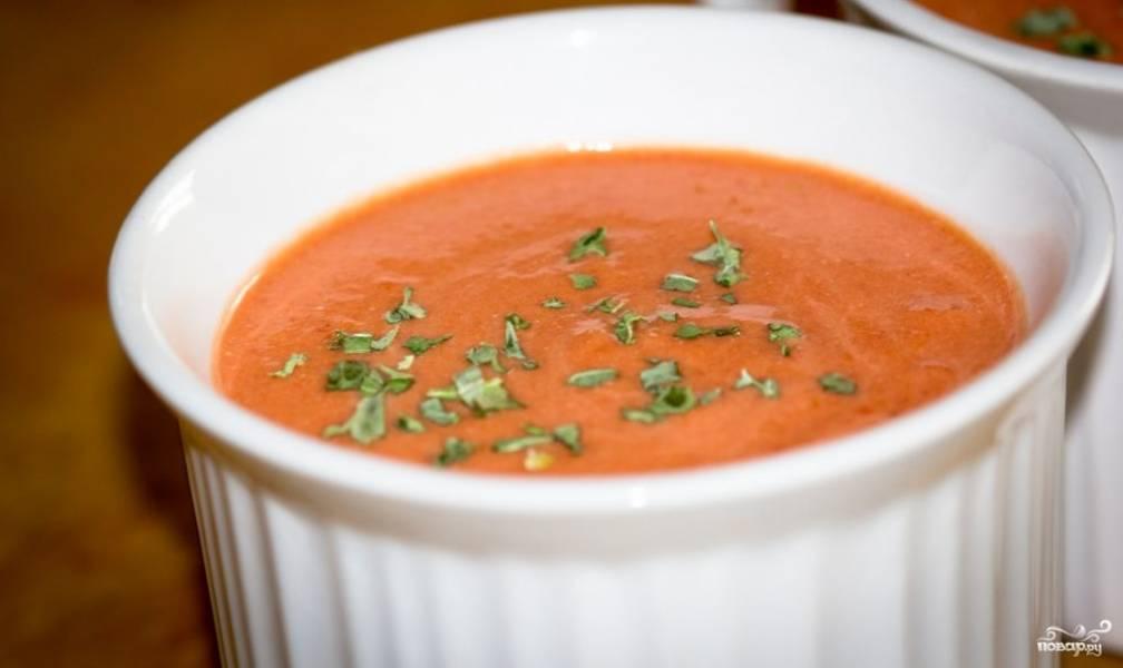 Томатный суп из томатного сока