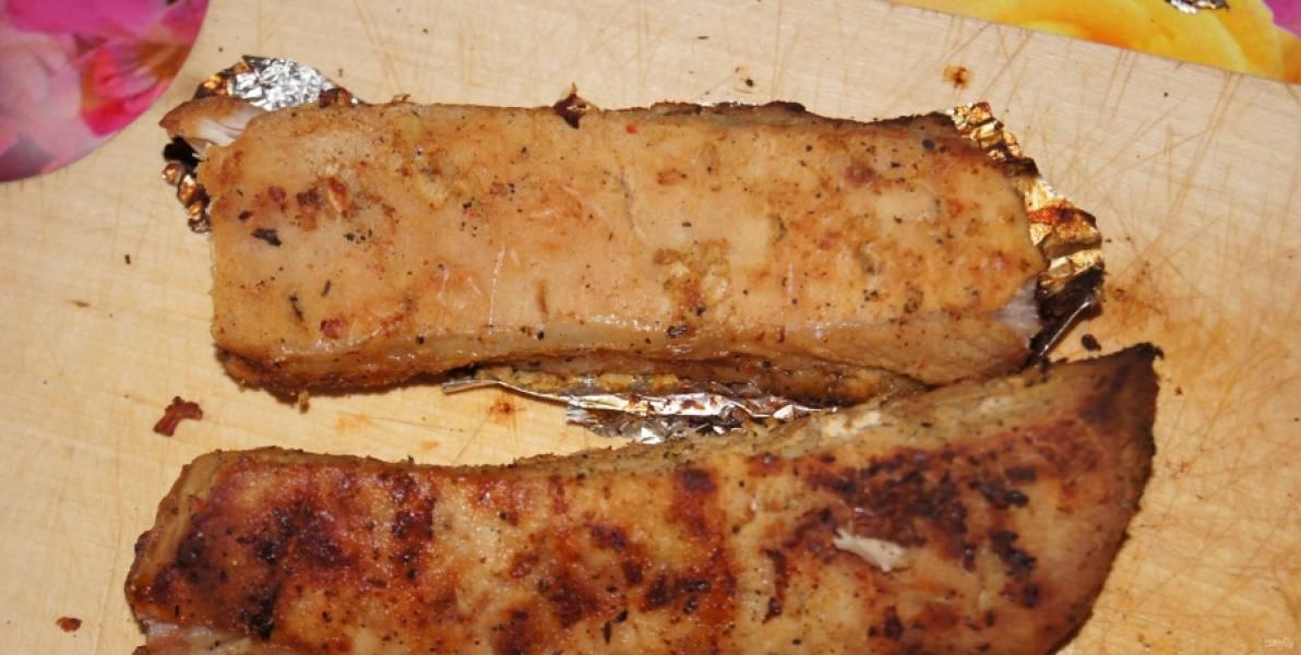 7.Запекаю свинину около 1-1,5 часа, при температуре 180 градусов.