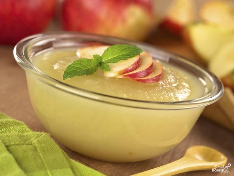 Пюре из яблок для грудничка
