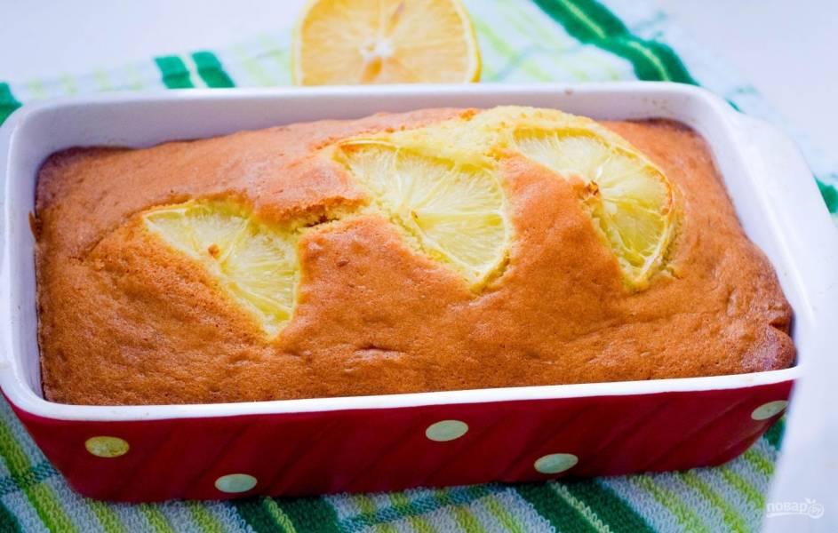 Лимонный кекс простой