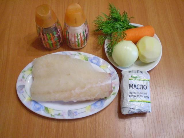 1. Приготовим продукты для супа. Овощи очищаем, моем под проточной водой. Рыбу размораживаем. Если рыба свежая, снимаем филе, кости и кожу выбрасываем.