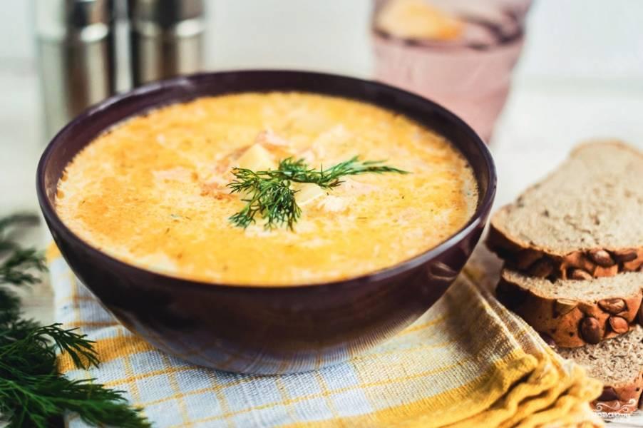 Суп из семги со сливками
