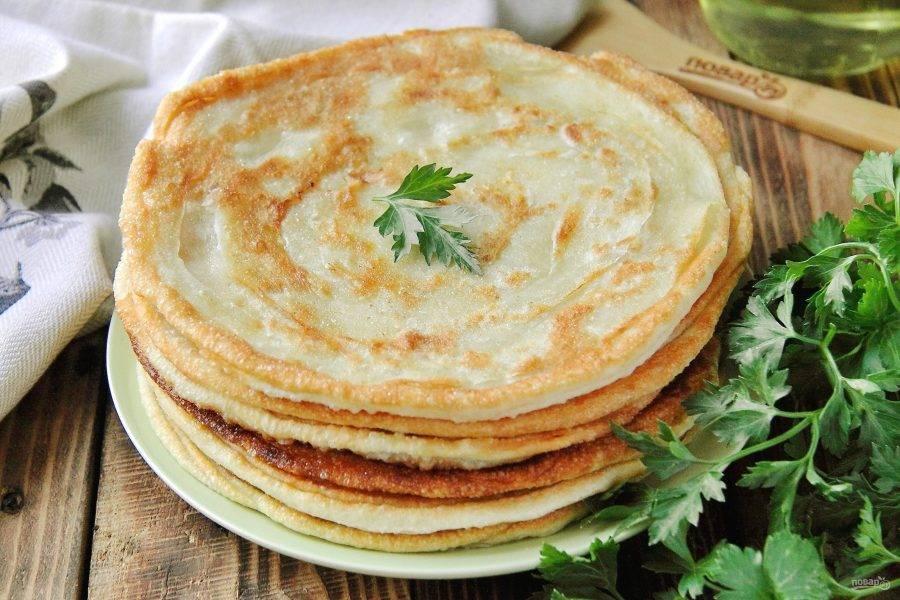 Узбекские слоеные лепешки готовы. Приятного аппетита!