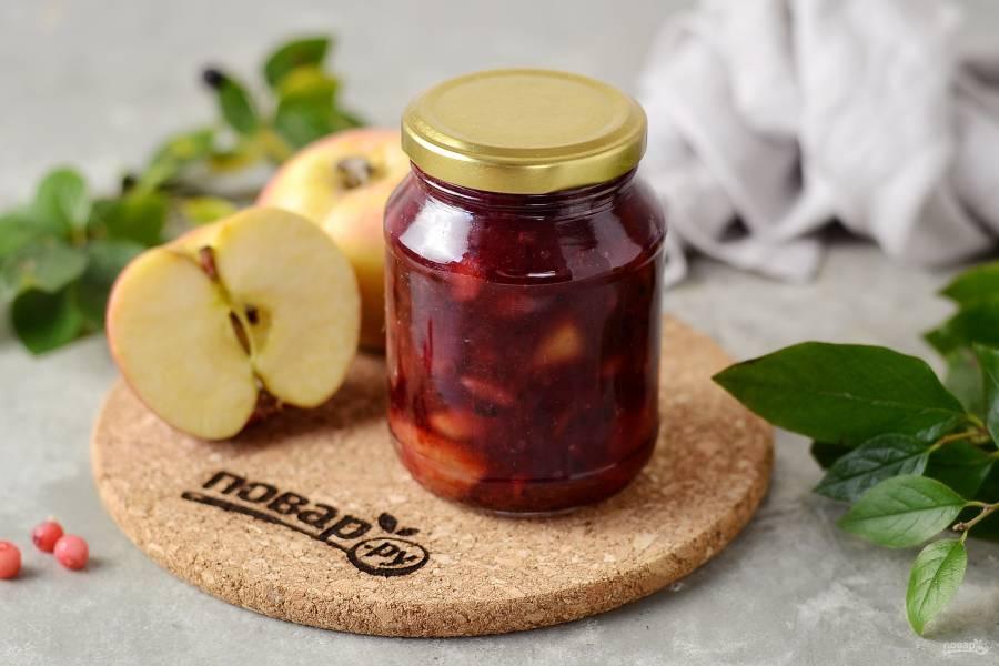 Варенье из красной смородины с яблоками