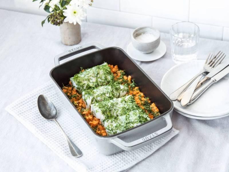 4. Запекайте блюдо ещё 5-7 минут при средней температуре. Приятного аппетита!