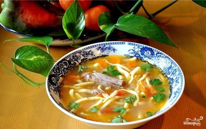 Суп из баранины с вермишелью