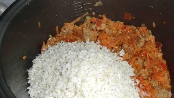Ну вот пришла очередь риса.