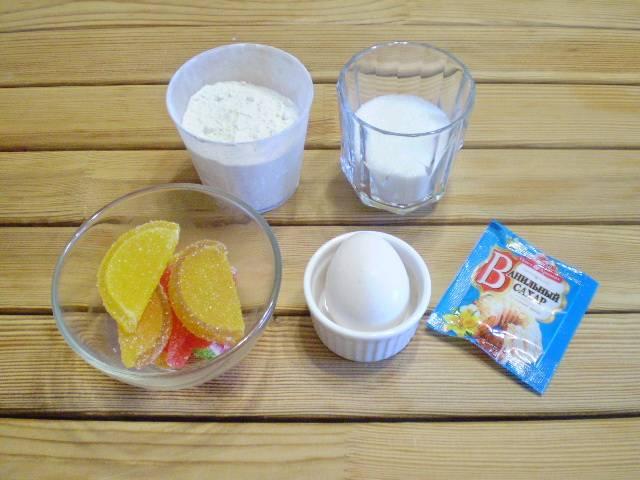 1. Приготовим продукты для печенья.
