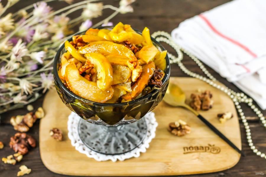 Яблочное варенье с грецкими орехами
