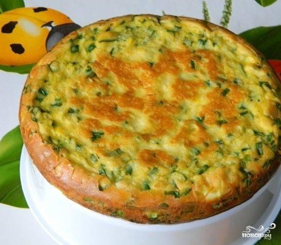Пирог с зеленым луком на кефире