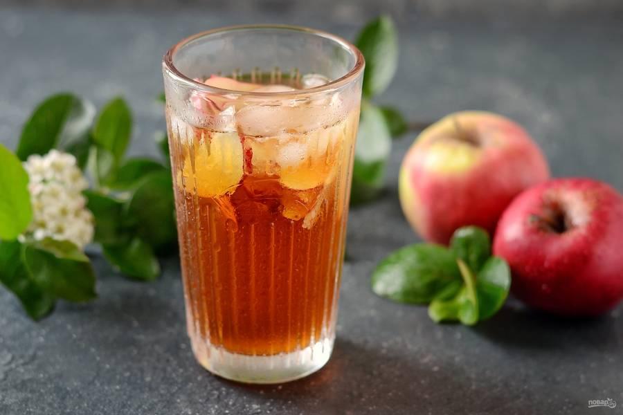 Холодный яблочный чай
