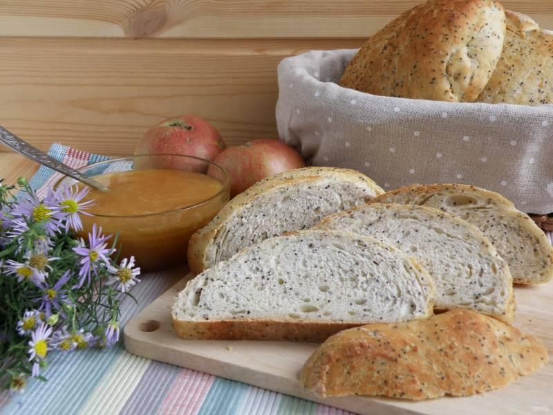 Хлебцы маково-кунжутные