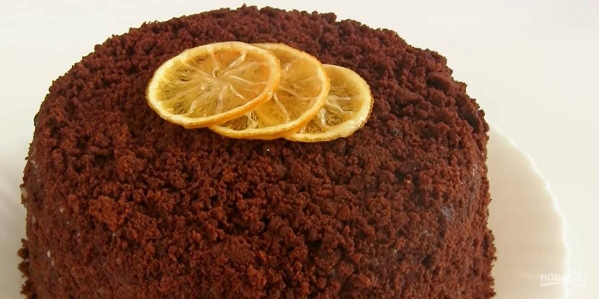 """Торт """"Супершоколадный"""" с лимонным курдом"""