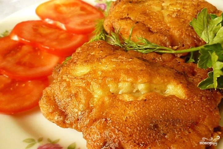 Мясо в сырном кляре