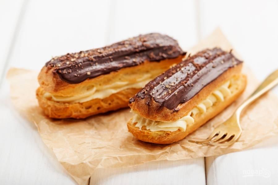 Эклеры: готовим идеальный десерт