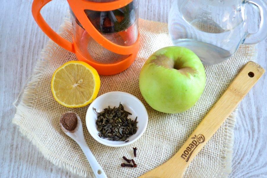 Подготовьте все необходимые ингредиенты. Молотый имбирь можно заменить на свежий.