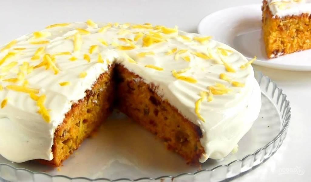 Морковно-лимонный пирог