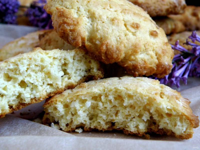 Рассыпчатое кокосовое печенье на кукурузной муке